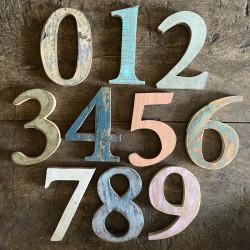 Wood - Vintage Numbers