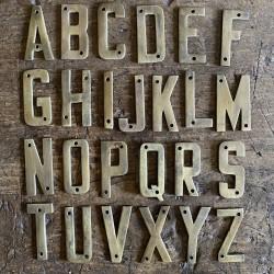 Brass - Vintage Letters