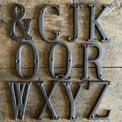 Cast iron - letters