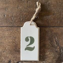 Painted Wood Numbers