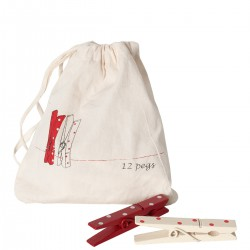 12 Christmas Pegs in a Bag...