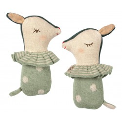 Bambi rattle Dusty mint  -...