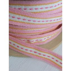 3-fold pink-yellow striped...