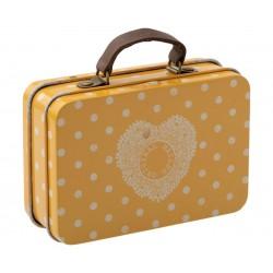 Suitcase Metal Yellow dot...