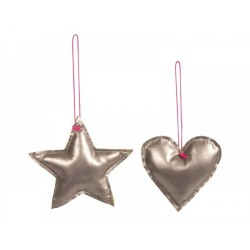 Star/Heart Silver Ornament...