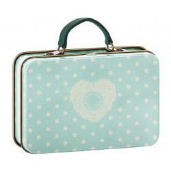 Metal Suitcase Green Dots...