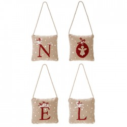 Set 4 noel embroidered...