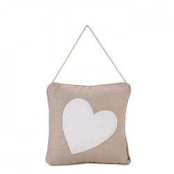 Pillow with white heart - A...