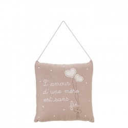 "Embroidered pillow ""l'amour..."