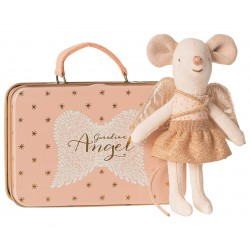 Guardian angel in suitcase,...