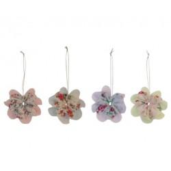 Flower Ornament Set 4 Pcs...