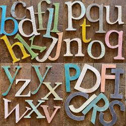 Legno grande - lettere vintage