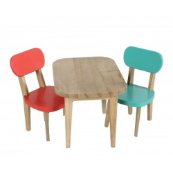 Wooden Table & 2 Chairs...