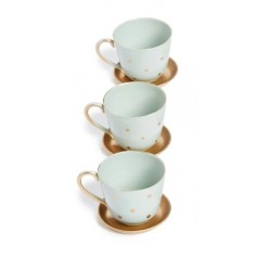 Tea Time set 3 cups and 3...