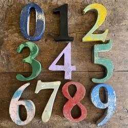 Iron - vintage numbers