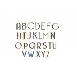 Wooden Letters Typo UP W15