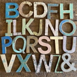 Capital wood - vintage letters