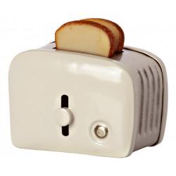Miniature toaster & bread -...